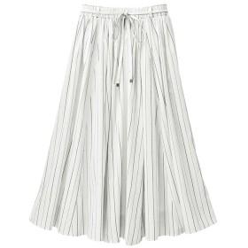 GeeRA スラブ素材マキシスカート ホワイト M レディース 5,000円(税抜)以上購入で送料無料 フレアスカート 夏 レディースファッション アパレル 通販 大きいサイズ コーデ 安い おしゃれ お洒落 20代 30代 40代 50代 女性 スカート