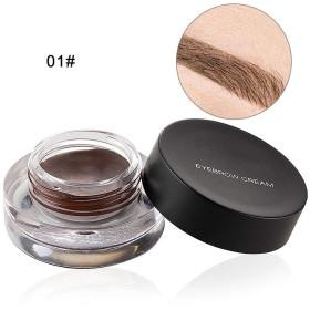 アイライナー 高発色 アイブロー 眉毛クリーム 滲まない 崩れない 舞台 特別ブラシ付き 12色(1#)