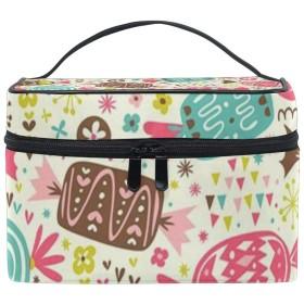 CW-Story キャンディの柄 旅行 バスルームポーチ 大容量 化粧ポーチ 洗面用具入れ 出張 ポーチ 収納バッグ 小物整理 プレゼント
