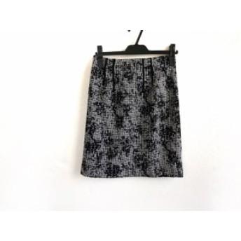 ジャスグリッティー JUSGLITTY スカート サイズ2 M レディース 美品 黒×白 千鳥格子【中古】20190907