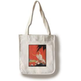 Nature Magazine–View of American White Ibis Birds Canvas Tote Bag LANT-30056-TT