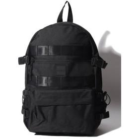 【10%OFF】 ラプラスボックス 背ポケ付きバックパック ユニセックス ブラック F 【Laplace box】 【セール開催中】