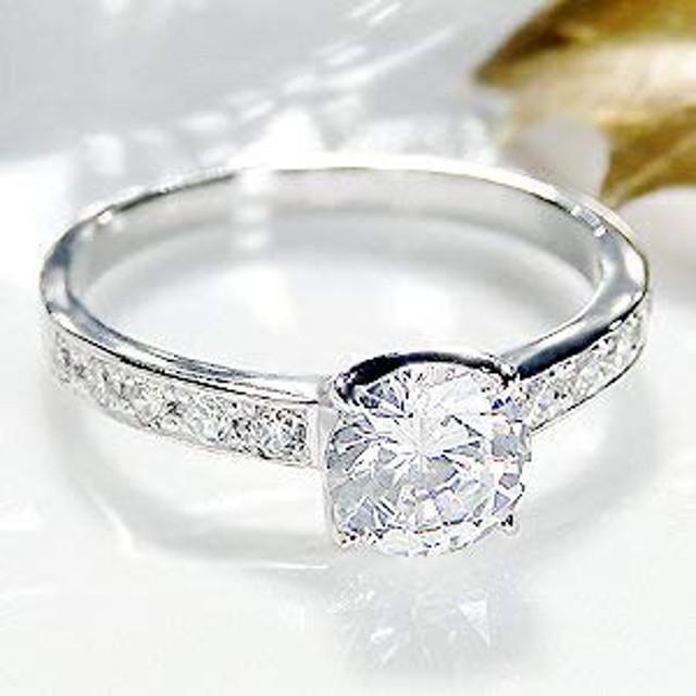 pt900 ダイヤモンド リング【1.18ct 】中石大粒1カラット(サイズ12号)【ギフトラッピングされています】【無料でイニシャルや刻印ができます】 【品質保証書が付いています】