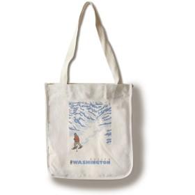 Stylized Snowshoer–Roslyn、ワシントン Canvas Tote Bag LANT-28913-TT