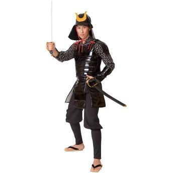武士の鎧 鎧 兜 足軽 コスプレ ユニセックス 黒 (MENコス)