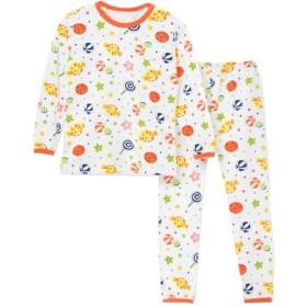 [えみり] 子供服 パジャマ 長袖シャツ ロングパンツ 2点セット セットアップ 女の子 男の子 ルームウェア 寝巻き プリント 可愛い 綿 部屋着 寝間着 春秋 ボーイズ ガールズ キャンディー柄130
