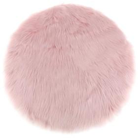 人工ファー 快適 ラグ マット 絨毯 フロアマット エリアラグ フロート窓マット 椅子クッション 床マット 小面積敷物 - ライトピンク, 30x30x6cm
