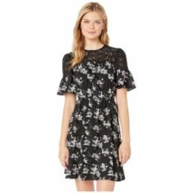 マイケルコース レディース ワンピース トップス Bold Botanicalical Yoke Dress Black/White