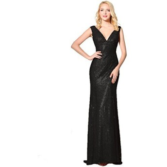 Clearbridal - ワンピース - Aライン - ノースリーブ - Woman Black-A