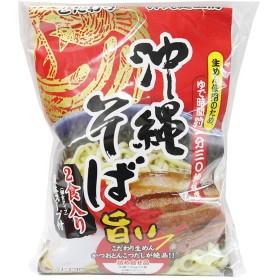 沖縄そば(袋)2食入り×5袋 シンコウ こだわり生めんとかつおとんこつだしが絶品 沖縄のソウルフード お土産にもどうぞ