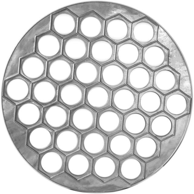 丸型ペルメニメーカー 金属 ダンプリングメーカー ラビオリメーカー ペルメニ型 アルミニウム 大型 ラビオリ型 ペルメニフォーム 37個ダンプリング用