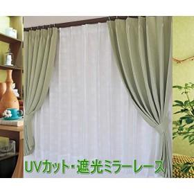 日本製 遮光遮熱ミラーレースカーテン【サークル】 (150cm×223cm【1枚入】)UVカット・サークル柄レースカーテン 150cm幅