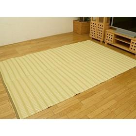ラグマット お子様の部屋に、アウトドアに、 人気アイテム 青森ヒバ使用 洗えるPPカーペット 『雲海(うんかい)』 ベージュ 174×261cm