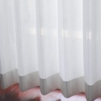エヌティーインテリア オーダーカーテン【遮熱/UVカット/ミラー/昼も夜も外から見えにくい】マルシェレース 幅80cm 丈128cm 2枚