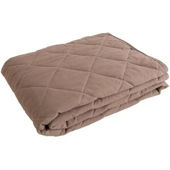 mofua natural 敷きパッド 水洗い加工で仕上げた 麻×綿 シングル グレージュ 555101N8
