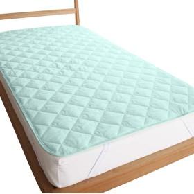 防ダニ 抗菌 防臭 加工 臭いを防ぐ 敷きパッド シングル 100×200cm (ブルー)
