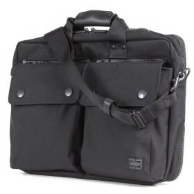カバンのセレクション 吉田カバン ポーター アングル ビジネスバッグ メンズ ブランド 2WAY B4 PORTER 512 07222 ユニセックス ブラック 在庫 【Bag & Luggage SELECTION】