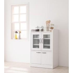 食器棚 キッチン収納 キッチン棚≪ミニ食器棚 ホワイト≫カントリー調 完成品 国産