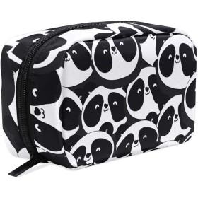 UOOYA おしゃれ 化粧ポーチ パンダ Panda 黒白 軽量 持ち歩き メイクポーチ 人気 小物入れ 収納バッグ 通学 通勤 旅行用 プレゼント用
