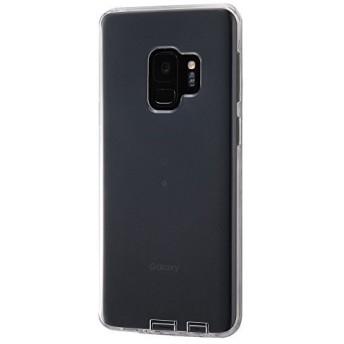レイ・アウト Samsung Galaxy S9 ケース TPU コネクタキャップ付き ワイヤレス充電対応 クリア