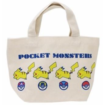 ポケットモンスター ランチバッグ マチ付き コットンバッグ ピカチュウとボール ポケモン 30×20×9.5cm キャラクター グッズ