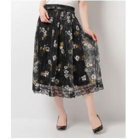 Bou Jeloud ◆一枚で華やかさUP◆ふんわりレースロングスカート(A)【返品不可商品】
