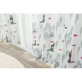 Birdieおはなしカーテン 形状記憶ドレープカーテン「森のキツネ」【UNI】(既製品)150×135cm1枚入(#9818651) アレルGプラス バーディ 幅150cm 丈135cm 子供部屋