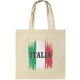 イタリアイタリアイタリアの旗食料品旅行再利用可能なトートバッグ - 小