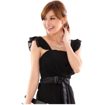 [sweet bell] パーティードレス 結婚式 お呼ばれ ドレス ワンピース レディース きれいめ ブラック 黒 大きいサイズ 2Lサイズ XLサイズ 13号