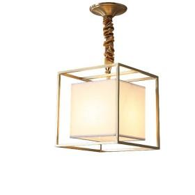 格物 真鍮 アメリカンスタイル 四角形 E27電球 シャンデリア 802 書斎に適用 食堂に適用 寝室に適用 φ2525cm