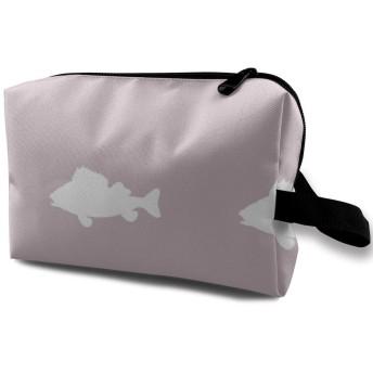 化粧ポーチ コンパクトサイズ,Lavender_3970の魚ラン、オックスフォードの布の多彩な袋の小型旅行