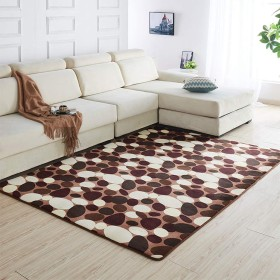 ラグマット カーペット 洗える 160×60cm コーヒー石 夏用ラグ 短毛 無地 じゅうたん 絨毯 ふわふわ 快適 滑り止め付 防ダニ 防音 軽量 折り畳み可能 床暖房対応 冷房対策