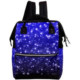 CHENYINAN リュックサック リュック 学生 レディース 宇宙柄 星 空 雪柄 メンズ 大容量 マザーズバッグ がま口 バックパック 通勤通学 デイバッグ かわいい おしゃれ