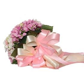 【Woliwowa】 かわいい 造花の アジサイ 花束 ウェディングブーケ ライトパープル [並行輸入品]