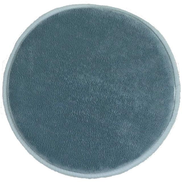 トシシミズ 低反発高反発フランネルマット スモークブルー 円形35cm 遮音 LM101