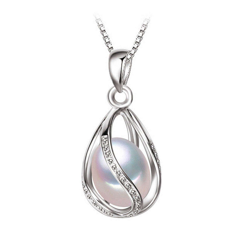 CS-DB Pendants Pearl Cute Silver Necklaces