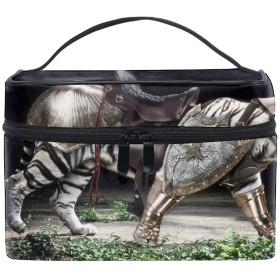 コスメポーチ 多機能収納ボックス 防水ケース 動物装甲虎中世ウォークラフト大容量 高品質 超軽量 旅行用