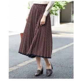 OFUON / ジオメパターンプリーツスカート