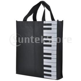 ピアノキーパターン オックスフォード布 ハンドバッグ ショッピングバッグ 女の子 ギフト