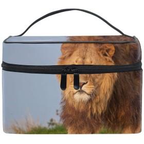 ライオントイレタリーバッグ 収納ケース メイク収納 小物入れ 仕分け収納 防水 大容量 出張 旅行用