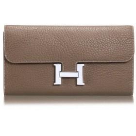LYgMV 財布、春の長いレディース財布ヨーロッパとアメリカ革のハンドバッグ革の第一層リッチーパターンのクラッチ (Color : 4)