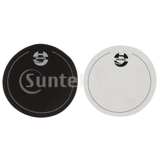 2個のベースドラムヘッドパッドインパクトパッチドラムパート用のドラムヘッドプロテクター