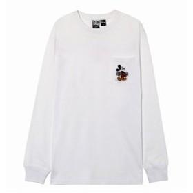 【クイックシルバー:トップス】Tシャツ 長袖 クルーネック ディズニーミッキー19 MICKEY HAS BOARD POCKET LS