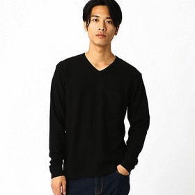 <COMME CA ISM (メンズ)> VネックTシャツ(4760TN02) ブラック 【三越・伊勢丹/公式】