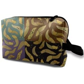 バナナの蛞蝓 化粧バッグ 収納袋 女大容量 化粧品クラッチバッグ 収納 軽量 ウィンドジップ