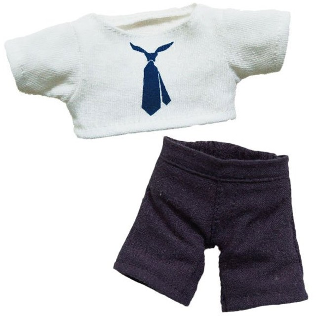 《TB365&COCOベア》 ネクタイプリントTセット 約12cmぬいぐるみ用 4S お人形遊び 洋服 おままごと プティルウコスチューム 4S
