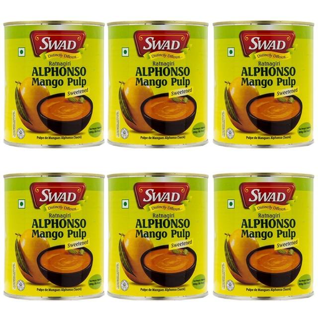SWAD アルフォンソ マンゴーピューレ 850g 6缶 Mango Pure