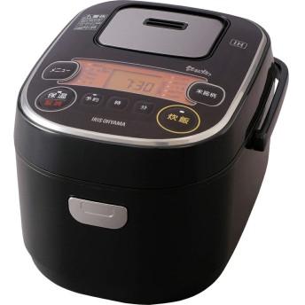アイリスオーヤマ IH炊飯器 3合 IH式 31銘柄炊き分け機能 極厚火釜 玄米ブラック RC-IE30-B