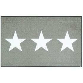 クリーンテックス・ジャパン 玄関マット Stars sand 75×120cm wash+dry(ウォッシュ アンド ドライ) AB00285
