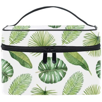 収納ポーチ 通勤 出張 旅行 大容量 熱帯の葉軽量 携帯 便利